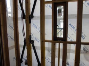 宇土市新築工事透湿防水シート重なり20180713