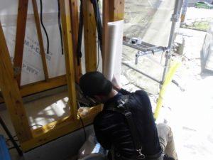 宇土市新築工事透湿防水シート張り20180713