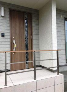 沼山津モデル 玄関入口