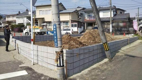 熊本市西区横手モデル用地造成工事中