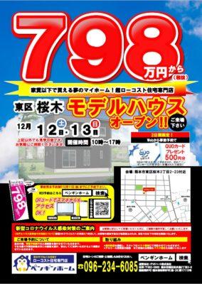 201212-13 桜木モデル見学会チラシ表(ポスティング)